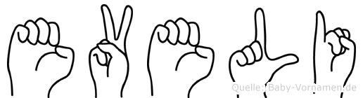 Eveli in Fingersprache für Gehörlose