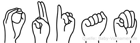 Ouiam in Fingersprache für Gehörlose