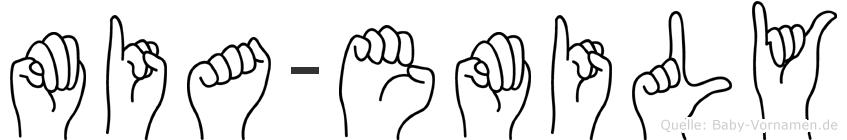Mia-Emily im Fingeralphabet der Deutschen Gebärdensprache