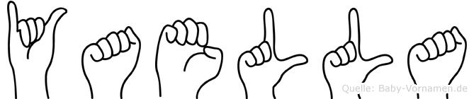 Yaella im Fingeralphabet der Deutschen Gebärdensprache