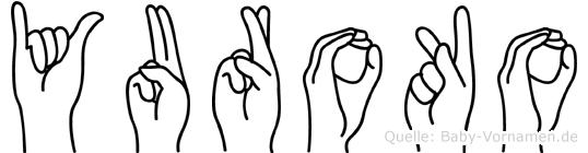 Yuroko im Fingeralphabet der Deutschen Gebärdensprache
