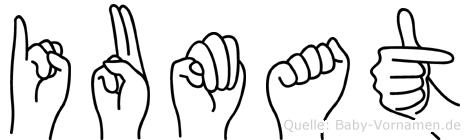 Iumat im Fingeralphabet der Deutschen Gebärdensprache