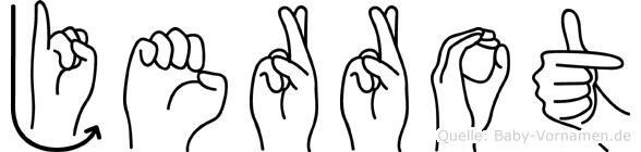 Jerrot im Fingeralphabet der Deutschen Gebärdensprache