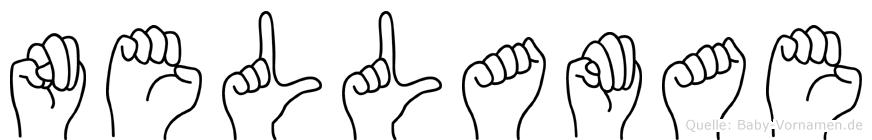Nellamae im Fingeralphabet der Deutschen Gebärdensprache