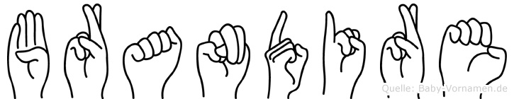 Brandire im Fingeralphabet der Deutschen Gebärdensprache