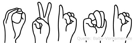 Ovini im Fingeralphabet der Deutschen Gebärdensprache