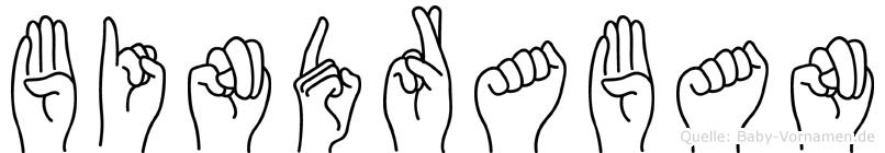 Bindraban im Fingeralphabet der Deutschen Gebärdensprache