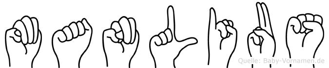Manlius im Fingeralphabet der Deutschen Gebärdensprache