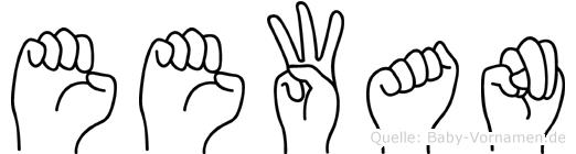 Eewan im Fingeralphabet der Deutschen Gebärdensprache