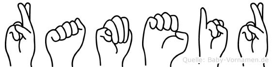 Rameir in Fingersprache für Gehörlose