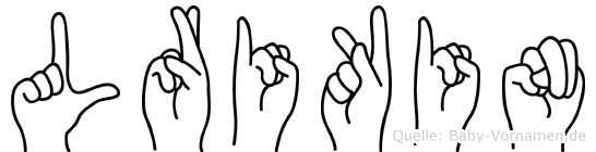 Lrikin in Fingersprache für Gehörlose