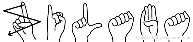 Zilaba in Fingersprache für Gehörlose