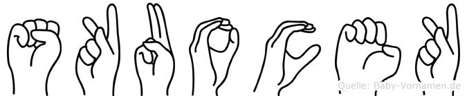 Skuocek im Fingeralphabet der Deutschen Gebärdensprache