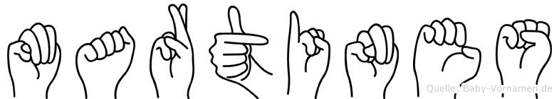 Martines im Fingeralphabet der Deutschen Gebärdensprache