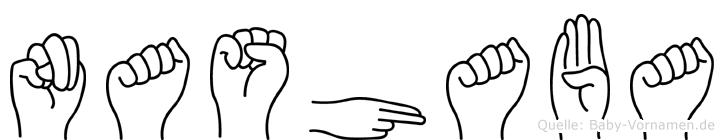 Nashaba in Fingersprache für Gehörlose