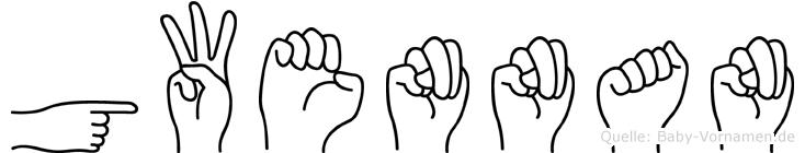 Gwennan in Fingersprache für Gehörlose