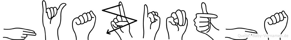 Hyazintha in Fingersprache für Gehörlose
