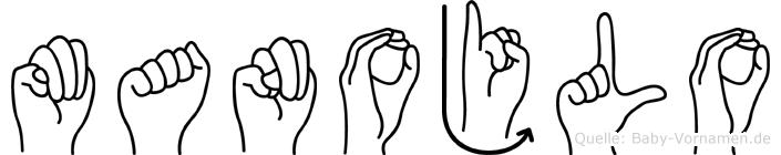 Manojlo im Fingeralphabet der Deutschen Gebärdensprache