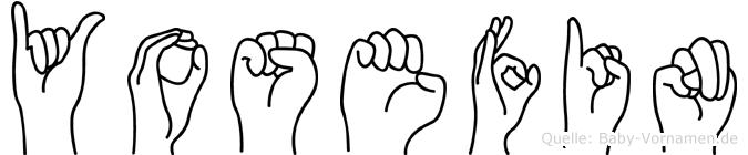 Yosefin im Fingeralphabet der Deutschen Gebärdensprache