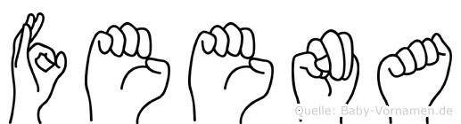 Feena im Fingeralphabet der Deutschen Gebärdensprache