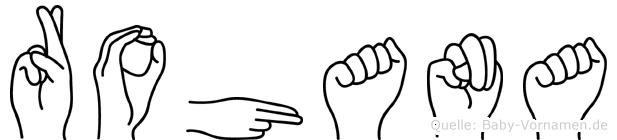 Rohana im Fingeralphabet der Deutschen Gebärdensprache