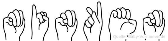 Minken in Fingersprache für Gehörlose