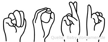 Nori im Fingeralphabet der Deutschen Gebärdensprache