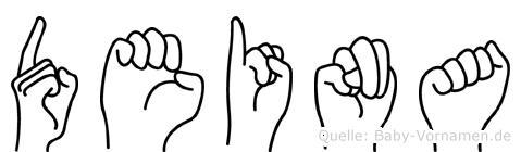 Deina in Fingersprache für Gehörlose