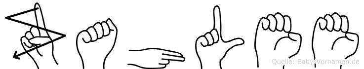 Zahlee im Fingeralphabet der Deutschen Gebärdensprache