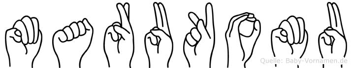 Marukomu in Fingersprache für Gehörlose