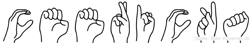 Ceericka in Fingersprache für Gehörlose