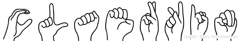 Claerkin im Fingeralphabet der Deutschen Gebärdensprache
