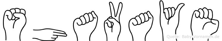 Shavaye im Fingeralphabet der Deutschen Gebärdensprache