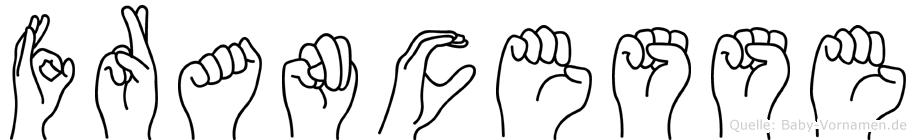 Francesse in Fingersprache für Gehörlose