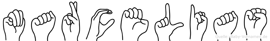 Marcelias im Fingeralphabet der Deutschen Gebärdensprache