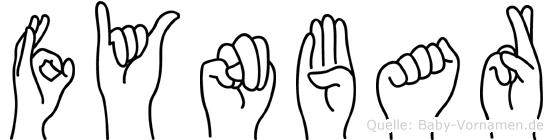 Fynbar im Fingeralphabet der Deutschen Gebärdensprache