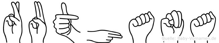 Ruthana im Fingeralphabet der Deutschen Gebärdensprache
