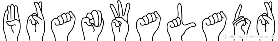 Branwaladr in Fingersprache für Gehörlose