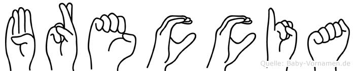 Breccia in Fingersprache für Gehörlose