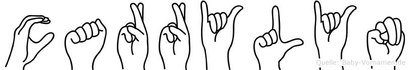 Carrylyn im Fingeralphabet der Deutschen Gebärdensprache