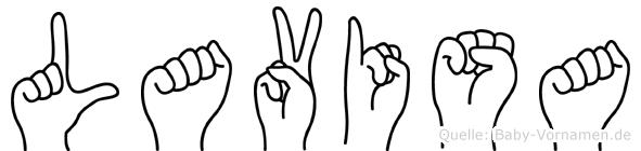 Lavisa in Fingersprache für Gehörlose