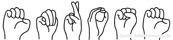 Emrose im Fingeralphabet der Deutschen Gebärdensprache