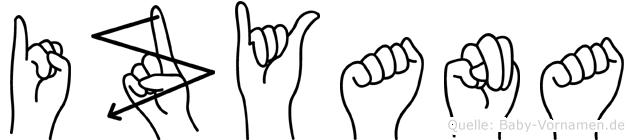 Izyana im Fingeralphabet der Deutschen Gebärdensprache