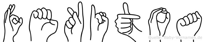 Fekitoa in Fingersprache für Gehörlose