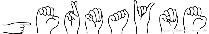 Germayne im Fingeralphabet der Deutschen Gebärdensprache