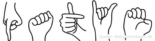 Patye in Fingersprache für Gehörlose