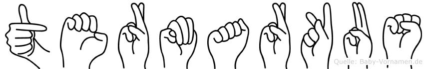 Termarkus in Fingersprache für Gehörlose