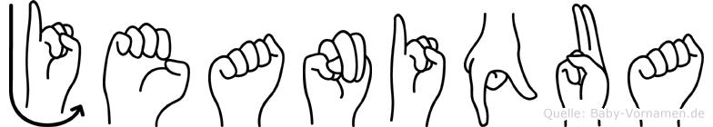 Jeaniqua im Fingeralphabet der Deutschen Gebärdensprache
