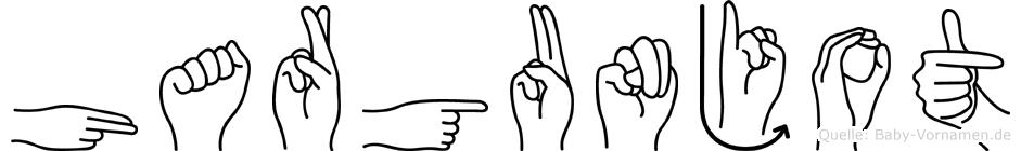 Hargunjot im Fingeralphabet der Deutschen Gebärdensprache