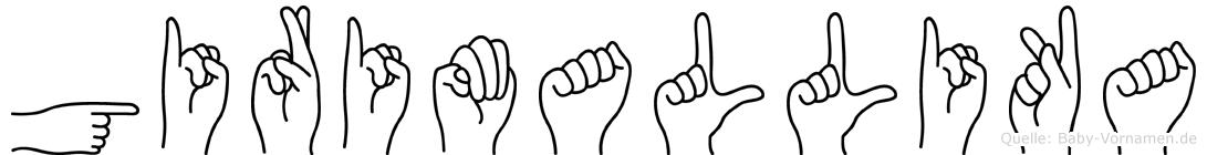 Girimallika in Fingersprache für Gehörlose